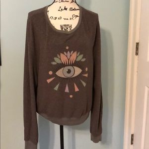 "Wildfox ""eye"" graphic sweater, size Large"